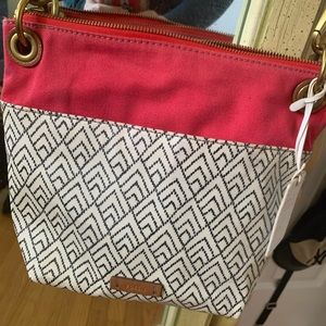 Smaller printed fossil purse